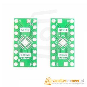Adapter pcb QFN16  naar dip